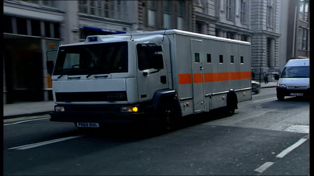 operation crevice allegations that london tube driver was asked to be a suicide bomber england london old bailey extpolice van arrives at court - crevice stock videos and b-roll footage
