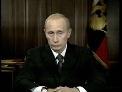 theatre siege criticism over gas use/death toll rises pool russian president vladimir putin speaking sot - vladimir russia stock videos and b-roll footage