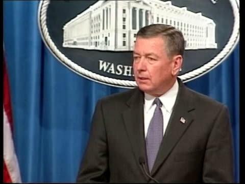 americans warned of more attacks; pool via aptn john ashcroft walking past to podium zoom in john ashcroft press conference sot - there may be... - attorney general stock videos & royalty-free footage