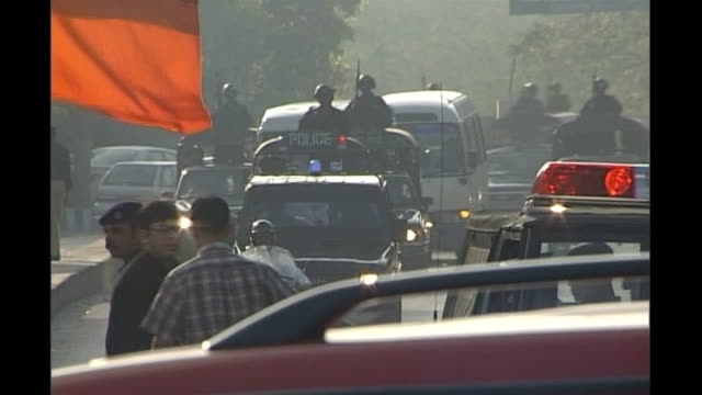 terrorist attack on sri lanka cricket team criticism of security measures 2004 karachi security surrounding then visiting indian cricket team - channel 4 news stock videos & royalty-free footage