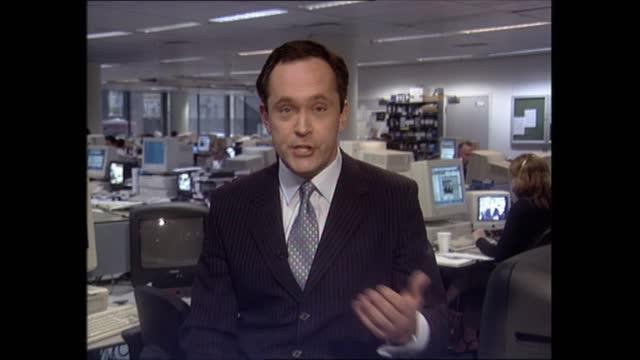 evening news special: pab 18.00 - 18.57; 18.07.08 england: london: gir: int robert moore live 2-way ex newsroom trevor mcdonald live studio - itv evening news stock videos & royalty-free footage