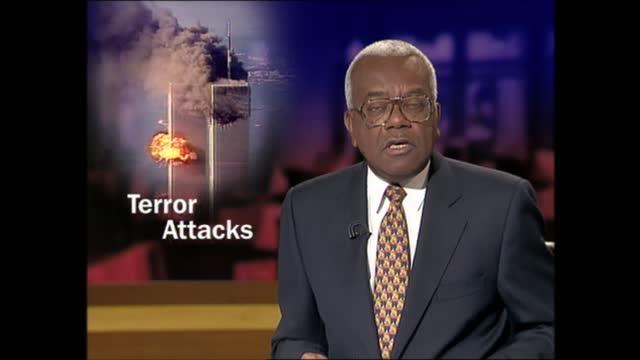 evening news special: pab 18.00 - 18.57; england: london: gir: int trevor mcdonald live studio - itv evening news stock videos & royalty-free footage