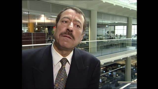 lunchtime news special: pab 12.00 - 13.37; england: london: gir: int abdel bari-atwan interview sot - i interviewed osama bin laden - following his... - 12 13 years stock videos & royalty-free footage