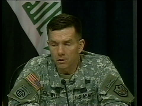 Terrorist group claims it has captured three US soldiers Baghdad Major General William Caldwell interview SOT We've got about 4000 US forces that...