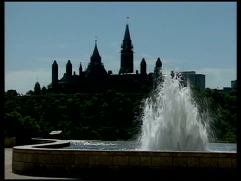 terrorist suspects appear in court tx parliament building canadian flag flying - ottawa stock videos & royalty-free footage