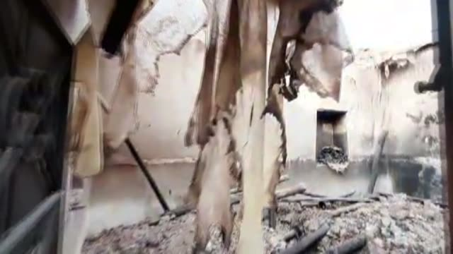 vídeos y material grabado en eventos de stock de terrorists have torched civilian homes in tal abyad before fleeing the district amid ongoing turkey-led anti-terror operation in northern syria.... - number 9