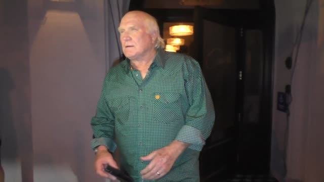 terry bradshaw comments on odell beckham jr. & the giants outside craig's restaurant in west hollywood in celebrity sightings in los angeles, - terry bradshaw stock videos & royalty-free footage