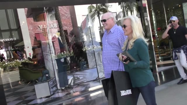 terry bradshaw shopping in beverly hills in celebrity sightings in los angeles, - terry bradshaw stock videos & royalty-free footage