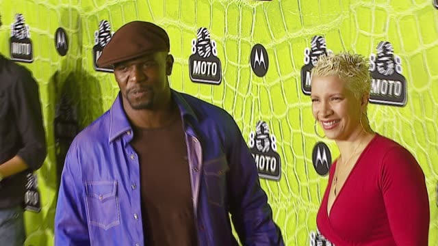 terry crews and guest at the 8th annual anniversary party hosted by motorola at the hollywood palladium in hollywood, california on november 2, 2006. - motorola stock videos & royalty-free footage