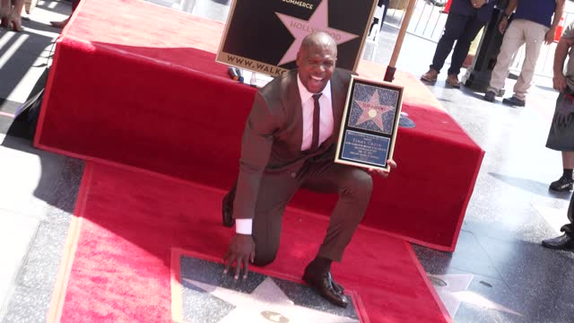 terry crews at the ceremony honoring terry crews with a star on the hollywood walk of fame on july 30, 2021. - celebrities stock videos & royalty-free footage