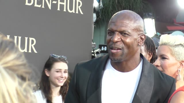 terry crews at the premiere of paramount pictures' benhur at tcl chinese theatre in celebrity sightings in los angeles - paramount pictures stock videos and b-roll footage