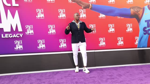"""terry crews attends the premiere of warner bros """"space jam: a new legacy"""" at regal live on july 12, 2021 in los angeles, california. - space jam stock videos & royalty-free footage"""