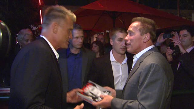 terry crews, dolph lundgren, arnold schwarzenegger at arnold schwarzenegger celebrates the launch of his autobiography, total recall with a party at... - biographie stock-videos und b-roll-filmmaterial