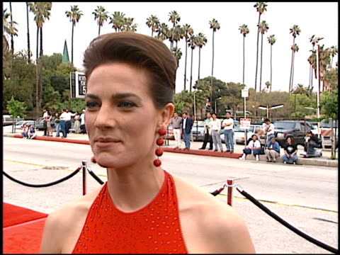 terry farrell at the blockbuster awards at hollywood pantages theater in hollywood california on march 11 1997 - terry farrell stock videos and b-roll footage