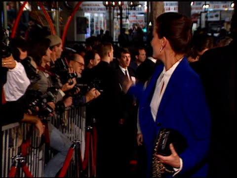 terry farrell at the 'star trek first contact' premiere at grauman's chinese theatre in hollywood california on november 18 1996 - terry farrell stock videos and b-roll footage