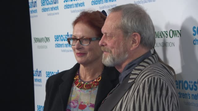 terry gilliam and maggie weston at serious fun gala - terry gilliam stock-videos und b-roll-filmmaterial