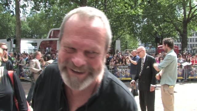 terry gilliam at empire leicester square on july 18, 2010 in london, england - terry gilliam stock-videos und b-roll-filmmaterial