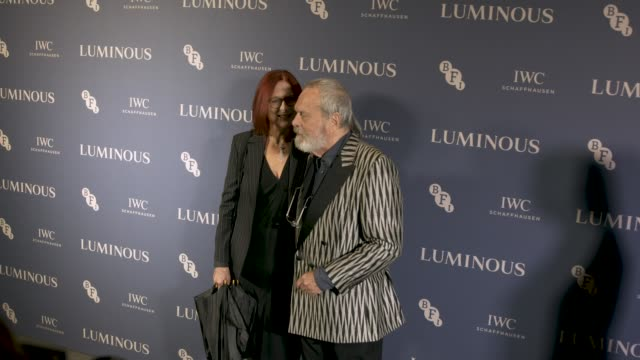 terry gilliam at luminous the bfi fundraising gala 63rd bfi london film festival at the roundhouse on october 01 2019 in london england - terry gilliam stock videos & royalty-free footage