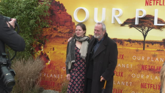 terry gilliam at 'our planet' global premiere on april 04, 2019 in london, united kingdom. - terry gilliam stock-videos und b-roll-filmmaterial
