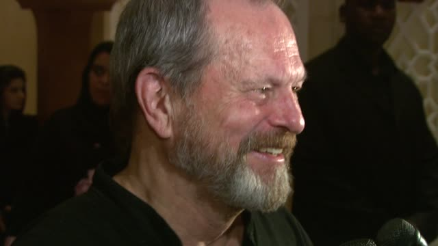 terry gilliam at the 2008 dubai international film festival terry gilliam at dubai - terry gilliam stock videos & royalty-free footage