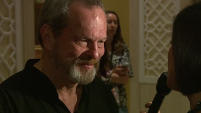 stockvideo's en b-roll-footage met terry gilliam at the 2008 dubai international film festival terry gilliam at dubai - terry gilliam