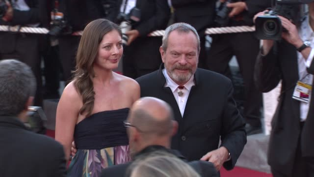 stockvideo's en b-roll-footage met terry gilliam at the cannes film festival 2009 closing steps coco chanel igor stravinsky at cannes - terry gilliam