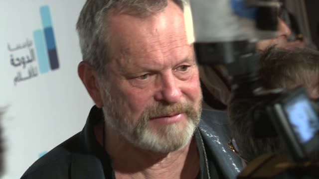 stockvideo's en b-roll-footage met terry gilliam at the doha film institute launch cannes film festival 2010 at cannes - terry gilliam