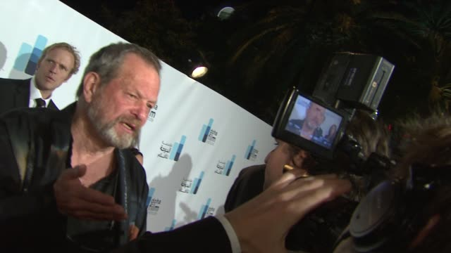 terry gilliam at the doha film institute launch: cannes film festival 2010 at cannes . - terry gilliam stock-videos und b-roll-filmmaterial