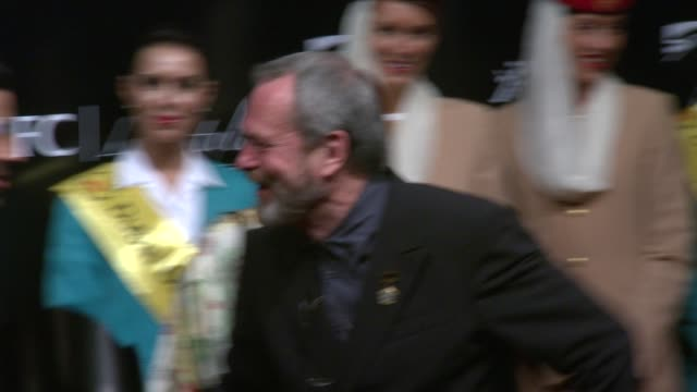 terry gilliam at the dubai international film festival opening night at dubai - terry gilliam stock videos & royalty-free footage