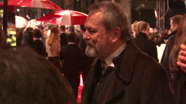terry gilliam at the the orange british academy film awards at london - terry gilliam stock videos & royalty-free footage