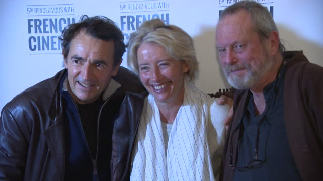 broll terry gilliam emma thompson albert dupontel at '9 month stretch' screening and qa at '9 month stretch' screening and qa at cine lumiere on... - terry gilliam stock videos & royalty-free footage