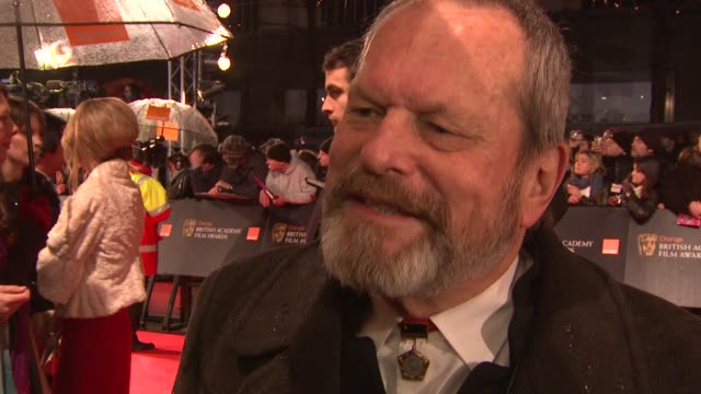 stockvideo's en b-roll-footage met terry gilliam 'i definitely get to walk away with something i've just got to worry about something to say i'm just going to get up there and hope... - terry gilliam