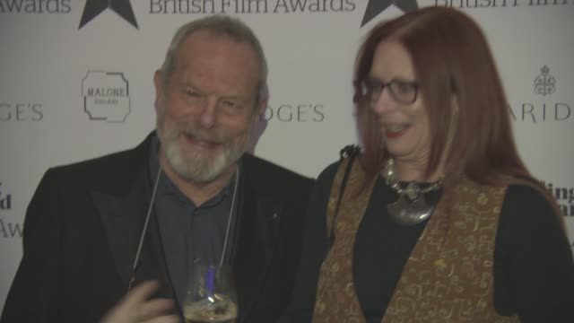 terry gilliam, maggie weston at evening standard film awards at claridge's hotel on december 08, 2016 in london, england. - terry gilliam stock-videos und b-roll-filmmaterial
