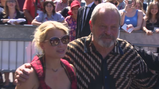 terry gilliam, melanie thierry and david thewlis at celebrity sightings - venice film festival day 06 on september 01, 2013 in venice, italy. - terry gilliam stock-videos und b-roll-filmmaterial
