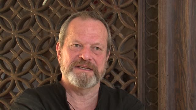 terry gilliam on finishing 'the imaginarium of doctor parnassus'. at the 2008 dubai international film festival terry gilliam at dubai . - terry gilliam stock videos & royalty-free footage