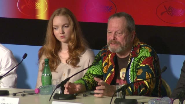 stockvideo's en b-roll-footage met terry gilliam on heath ledger at the cannes film festival 2009 the imaginarium of dr parnassus press conference at cannes - terry gilliam