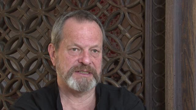 terry gilliam on heath ledger's and it's impact. at the 2008 dubai international film festival terry gilliam at dubai . - terry gilliam stock videos & royalty-free footage