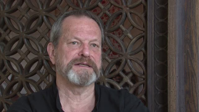 stockvideo's en b-roll-footage met terry gilliam on his attitude towards filmmaking and the creative process at the 2008 dubai international film festival terry gilliam at dubai - terry gilliam