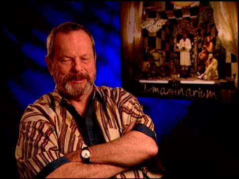 terry gilliam on how he finished the film without heath at the 'the imaginarium of doctor parnassus' junket at beverly hills ca - terry gilliam stock videos & royalty-free footage