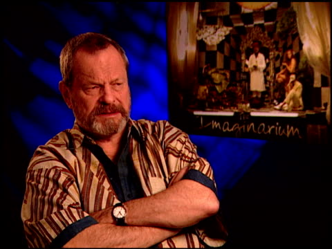 terry gilliam on how he finished the film without heath. at the 'the imaginarium of doctor parnassus' junket at beverly hills ca. - terry gilliam stock videos & royalty-free footage