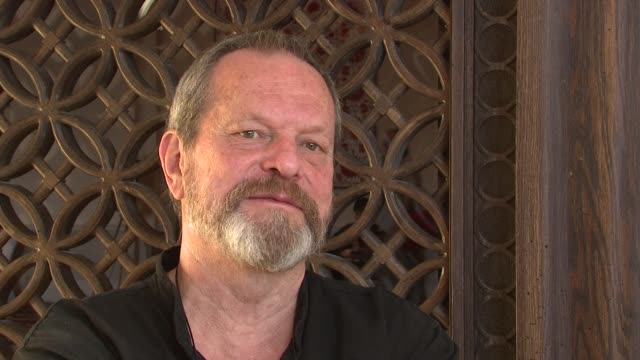 terry gilliam on how heath ledger's death effected the production of 'the imaginarium of doctor parnassus' at the 2008 dubai international film... - terry gilliam stock videos & royalty-free footage