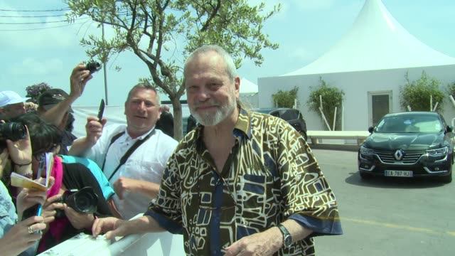terry gilliam on may 18, 2016 in cannes, france. - terry gilliam stock videos & royalty-free footage