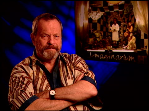 terry gilliam on the genesis of the idea at the 'the imaginarium of doctor parnassus' junket at beverly hills ca - terry gilliam stock videos & royalty-free footage