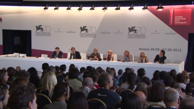 terry gilliam on the inspiration of the film, technology, the internet at 'the zero theorem' press conference on september 01, 2013 in venice, italy - terry gilliam stock-videos und b-roll-filmmaterial