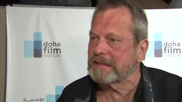 stockvideo's en b-roll-footage met terry gilliam on the state of the film business at the doha film institute launch cannes film festival 2010 at cannes - terry gilliam