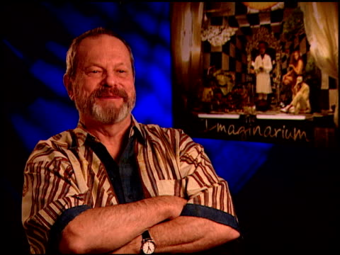 terry gilliam on using your imagination at the 'the imaginarium of doctor parnassus' junket at beverly hills ca - terry gilliam stock videos & royalty-free footage