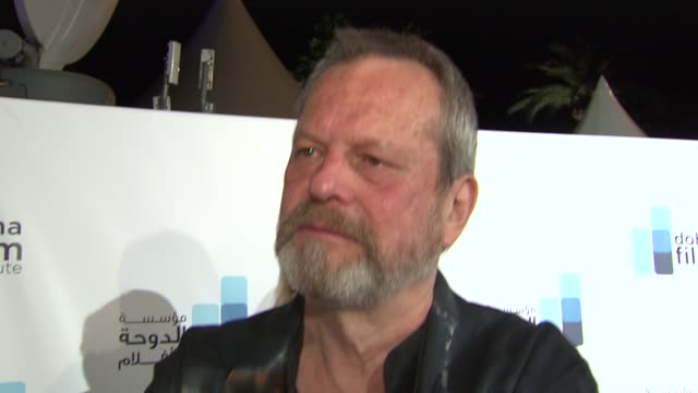 terry gilliam on why he is at cannes at the doha film institute launch: cannes film festival 2010 at cannes . - terry gilliam stock-videos und b-roll-filmmaterial