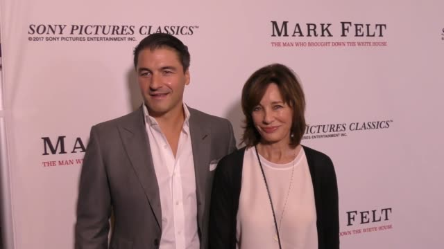 terry jastrow and anne archer at the premiere of sony pictures classics' 'mark felt: the man who brought down the white house' on september 26, 2017... - anne archer video stock e b–roll