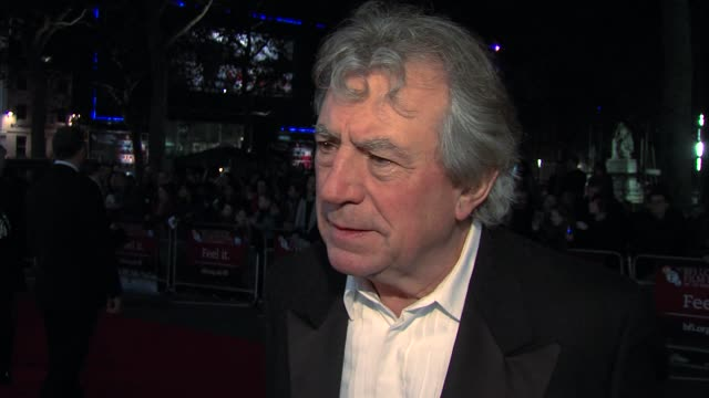 terry jones on the truth of the story his life how the audio tapes were found at a liar's autobiography premiere 56th bfi london film festival at... - monty python stock-videos und b-roll-filmmaterial
