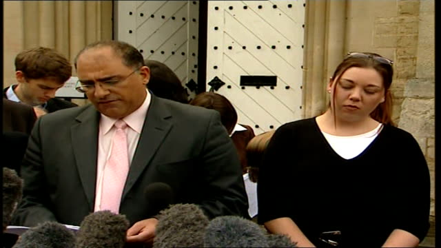terry lloyd inquest rules he was unlawfully killed statements louis charalambous speaking to press sot reads statement from lynn lloyd widow of terry... - trigger stock videos & royalty-free footage